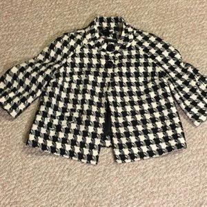 Vintage wide houndstooth topper swing jacket